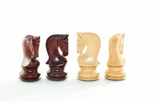ハンドメイド高級 チェス駒セット ♪ロシアン・ゼブラ 柘植・インド紫檀♪  キング3.75インチ