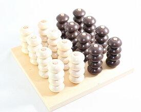 モンテッソーリ 木製ビーズさし 立体四目 Wooden Stacker Montessori 知育玩具