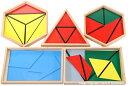 モンテッソーリ 構成三角形 5箱セット Montessori Constructive Triangles 知育玩具