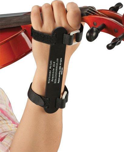 Large黒 左手首を正しいフォームに矯正する練習器具 Virtuoso Wrist Practice Aid 4/4-1/2サイズ