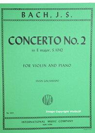 楽譜  Bach Concerto No. 2 in E Major バッハ バイオリン協奏曲第2番ホ長調 BWV 1042 Galamian ガラミアン