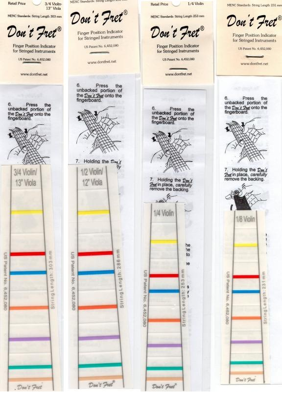 指板用シール 『ドン・フレット』 Don't Fret 各サイズ 3/4、1/2、1/4、1/8、1/10、1/16