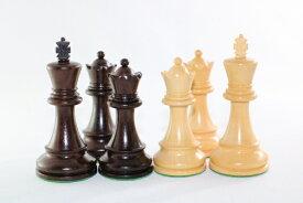 ハンドメイド高級 紫檀(ローズウッド)・柘植  ♪フィッシャー・スパースキー・モデル♪ チェス駒セット キング3.75インチ