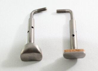 安裝的硬體 (螺釘、 夾) 為小提琴和中提琴的鈦下巴