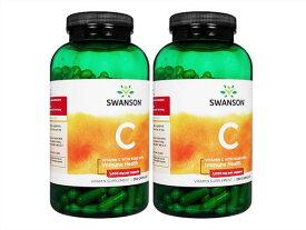 ビタミンC1000mgウィズローズヒップ250錠(Swanson)[ヤマト便] 2本 Vitamin C 1000mg with Rose Hips 250caps