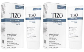 タイゾーウルトラジンクノンティンティドSPF40_100g 2本 Ultra Zinc Non-Tinted SPF40 100g