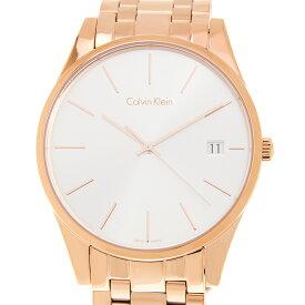 カルバンクライン Calvin Klein メンズ 腕時計 K4N21646 Time タイム シルバー/ピンクゴールド 40mm