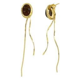 キャッチピアスニッケルフリー金属アレルギー揺れるゴールドシンプルレディースブランドvi-1372