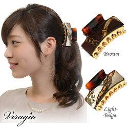 ヘアクリップ大大きめヘアアクセサリー髪留めシンプル髪飾りパーティーギフトプレゼント人気vi-0651