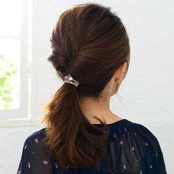 ヘアゴム黒大人ビジューゴールドヘアアクセサリー髪留め髪飾りブレスレットシンプルカジュアルvi-1199