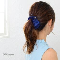バナナクリップ大きめリボンゴールドヘアクリップシンプルヘアアクセサリー髪留め髪飾りクリップvi-1226
