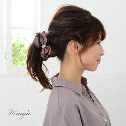 バナナクリップリボン大きめヘアクリップ大シンプルヘアアクセサリー髪留め髪飾り大人上品vi-1233