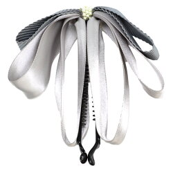 バナナクリップリボン大きめヘアクリップ大シンプルヘアアクセサリー髪留め髪飾り大人上品vi-1234