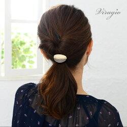 ヘアゴム黒メタルプレートレザーヘアアクセサリー髪留めまとめ髪ゴムシンプルゴールドブランドvi-1247