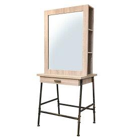 【300円OFFクーポン配布中】 BURLY IRON MIRROR ver2.0 (バーリーアイアンミラー ver2.0 ) ライトブラウン ・ 両面タイプ FV-5512BSB ミラー 両面鏡 ドレッサー 鏡台 化粧台 メイク台
