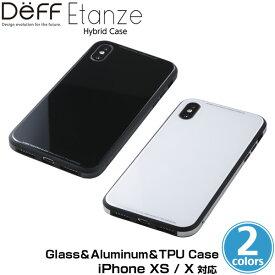【15%OFFクーポン配布中】iPhone XS 用 Glass&Aluminum&TPU Case Etanze for iPhone XS iPhone XS 対応 ハイブリッドケース アイフォンXS アイフォンテンエス iPhoneXS