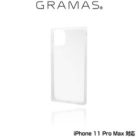 "【15%OFFクーポン配布中】iPhone11 Pro Max ガラスハイブリッドケース GRAMAS COLORS ""Glassty"" Glass Hybrid Shell Case for iPhone 11 Pro Max CHCGP-IP03CLR ポリカーボネート&TPU"