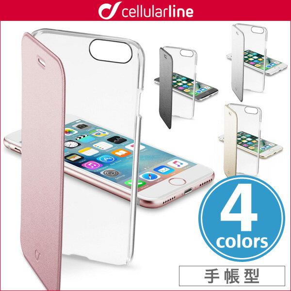 iPhone 8 / iPhone 7 用 cellularline Clear Book 手帳型カード収納ケース for iPhone 8 / iPhone 7 セルラーライン 手帳型 ケース クリアケース カバー ジャケット
