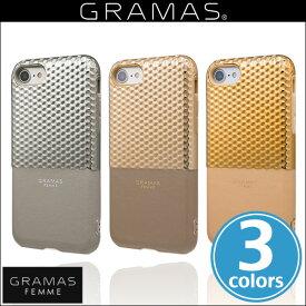 """iPhone 8 / iPhone 7 用 GRAMAS FEMME """"Hex"""" Hybrid Case FLC2007 for iPhone 8 / 7 送料無料】iPhone iPhone7 iPhoneケース ICカード バックカバー グラマス 電子マネー"""
