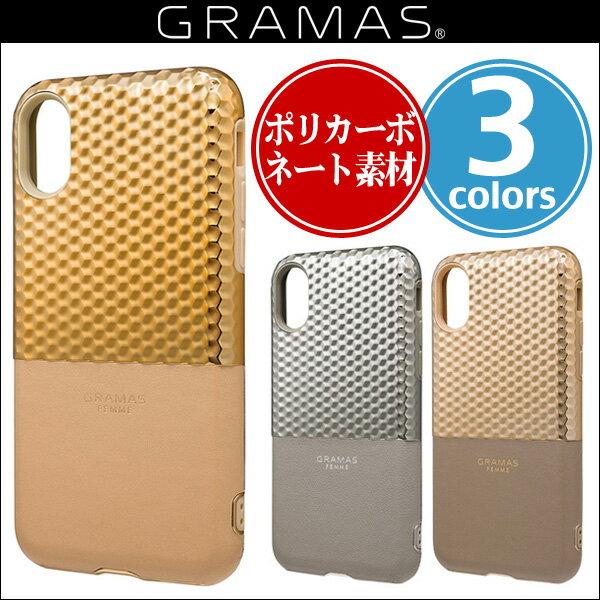 "iPhone X 用 GRAMAS FEMME ""Hex"" Hybrid Case FHC-50337 for iPhone X 【送料無料】iPhone iPhoneX iPhoneケース TPU ハイブリッドケース グラマス"