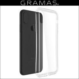 【15%OFFクーポン配布中】GRAMAS COLORS Glass Hybrid Clear Case for iPhone X 高硬度で透明度の高いガラスハイブリッドケース 9H 強化ガラス グラマス