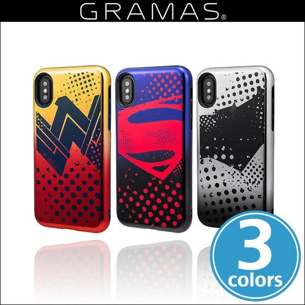 GRAMAS COLORS Hybrid Case with Justice League CHC-50357 for iPhone X / 傷や衝撃から保護するハイブリッドケース グラマス ICカード ストラップホール
