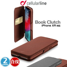 iPhone XR 用 cellularline Book Clutch 手帳型ケース for iPhone XR アイフォンXR アイフォンテンアール iPhoneXR テンアール アイフォーン 2018 6.1