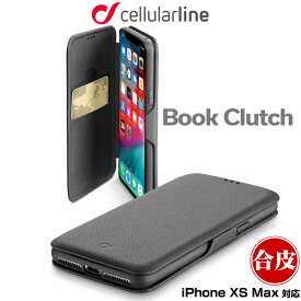 iPhone XS Max 用 cellularline Book Clutch 手帳型ケース for iPhone XS Max アイフォンXSマックス アイフォンテンエスマックス iPhoneXSMAX テンエスマックス アイフォーン 2018 6.5