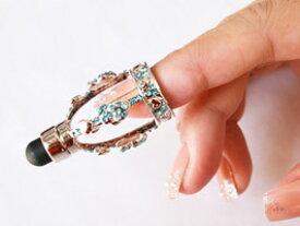スマホ用タッチペン スマホ タッチペン タブレット用タッチペン ラインストーン デコレーション 指先装着 タッチペン