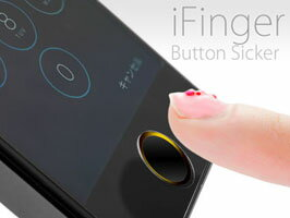 Touch IDに対応したホームボタンシール iFinger Button 指紋認証対応 ホームボタンシール MS-IFVB 【ポストイン指定商品】