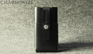 【送料無料】CharbonizeレザーウォレットタイプケースforiPhone6Plus(ブラック)プラス(5.5インチ)