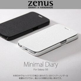 Galaxy S6 SC-05G 用 ケース 【送料無料】Zenus ゼヌス Minimal Diary for Galaxy S6 SC-05G 手帳型 手帳ケース 手帳タイプSC05G Z5982GS6