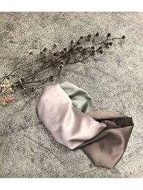 [Rakuten Fashion]バイカラーデザインターバン ViS ビス 帽子/ヘア小物 カチューシャ/ヘアバンド ベージュ ブラック