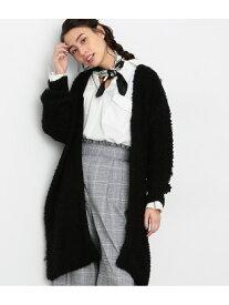 [Rakuten Fashion]【SALE/70%OFF】ループ編みカーディガン ViS ビス ニット カーディガン ブラック ホワイト【RBA_E】