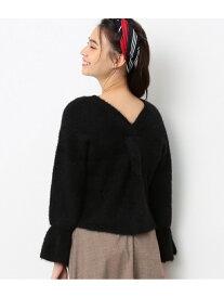 [Rakuten Fashion]【SALE/70%OFF】【2WAY】後ねじりキャンディースリーブプルオーバー ViS ビス ニット ニットその他 ピンク ブラック グレー ホワイト ベージュ【RBA_E】