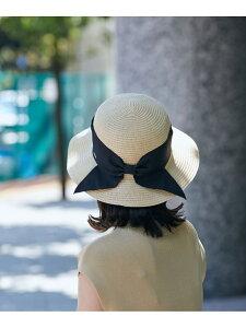 【SALE/14%OFF】【UVカット+抗菌防臭】軽量雑材リボンハット ViS ビス 帽子/ヘア小物 ハット ブラック ブラウン【RBA_E】[Rakuten Fashion]