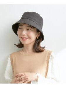 シャイニーナイロンバケットハット ViS ビス 帽子/ヘア小物 ハット ブラック ベージュ[Rakuten Fashion]