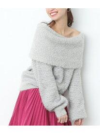 [Rakuten Fashion]【SALE/70%OFF】ブラシヤーンフェザーオフショルダー ViS ビス ニット ニットその他 グレー ホワイト ベージュ【RBA_E】