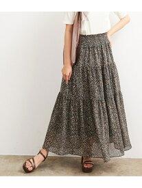 [Rakuten Fashion]【SALE/50%OFF】ウエストシャーリングマキシスカート ViS ビス スカート スカートその他 グリーン ホワイト【RBA_E】