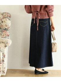 [Rakuten Fashion]【SALE/40%OFF】【Lee×ViS】デニムロングスカート ViS ビス スカート デニムスカート ネイビー ブルー【RBA_E】【送料無料】
