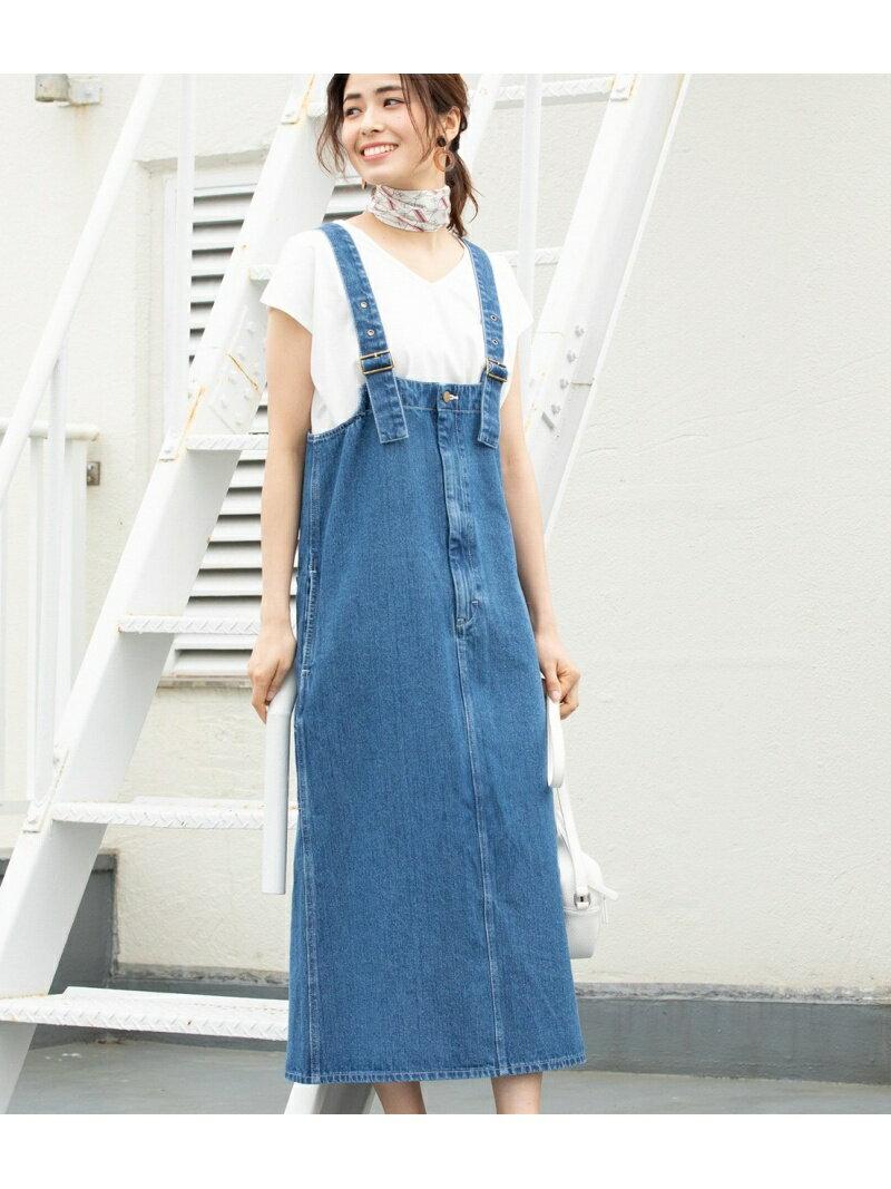 [Rakuten BRAND AVENUE]【一部店舗限定】【Lee×ViS】デニムジャンパースカート ViS ビス スカート【先行予約】*【送料無料】