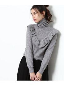 [Rakuten Fashion]【SALE/70%OFF】タートルネックフリル付きプルオーバー ViS ビス ニット ニットその他 グレー ブラック ホワイト ピンク【RBA_E】