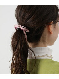[Rakuten Fashion]バイカラーリボンヘアーゴム ViS ビス 帽子/ヘア小物 ヘアゴム ピンク ベージュ カーキ【先行予約】*