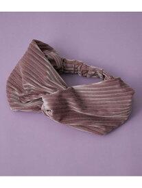 [Rakuten Fashion]【ViSage】ひねりベロアヘアターバン ViS ビス 帽子/ヘア小物 カチューシャ/ヘアバンド ピンク グレー グリーン