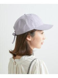 キャンバスバックリボンキャップ ViS ビス 帽子/ヘア小物 キャップ パープル ブラック ホワイト[Rakuten Fashion]