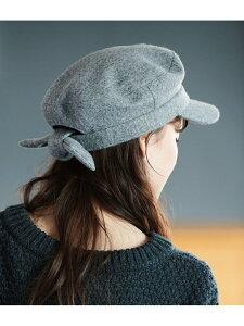 【SALE/30%OFF】バックリボンキャスケット ViS ビス 帽子/ヘア小物 帽子その他 グレー ブラック【RBA_E】[Rakuten Fashion]