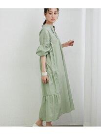 [Rakuten Fashion]【WEB限定FSサイズ】バックティアードワンピース ViS ビス ワンピース ワンピースその他 グリーン ブラック ホワイト ベージュ【送料無料】