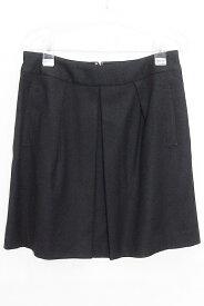 SPICK&SPAN(スピック&スパン) ウール ミニフレアスカート 40 ブラック