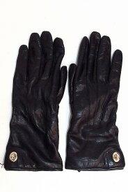 COACH コーチ レザー手袋 7 ブラック