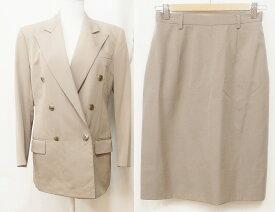 RALPH LAUREN ラルフローレン スカートスーツ セットアップ ダブルボタンジャケット 9/11 ベージュ系